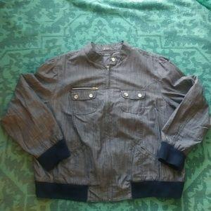 Dots Chambray Bomber Jacket